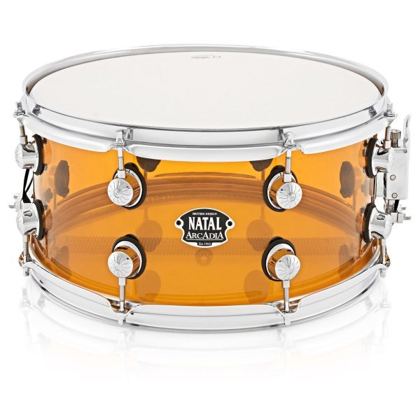 "Natal Arcadia 14"" x 6.5"" Orange, Transparent Acrylic Snare Drum"